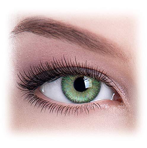 Farbige Kontaktlinsen, Ohne Stärke, Jahreslinsen, Natürlich Grün