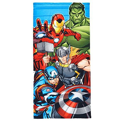 Toalla de playa de microfibra, 140 x 70 cm, secado rápido, ultrasuave (Los Vengadores, Marvel, Hulk, Thor)