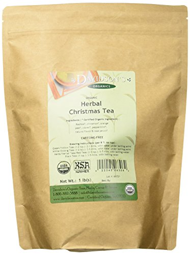 Davidson's Tea Bulk, Herbal Christmas, 16-Ounce Bag