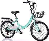 Acciaio al carbonio bicicletta pieghevole da 20 pollici for bambini biciclette studenti bicicletta giovanili ammortizzanti for adulti, una maggiore paniere di design, pneumatici anti-skid for incontra