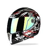 Casco da Cross con Occhiali Maschera Guanti LEENP Casco di Motocross Bianco Caschi Integrali Moto Sport Downhill Dirt Bike Enduro Casco ATV MTB Quad Offroad Casco da Motociclista per Uomo Donna