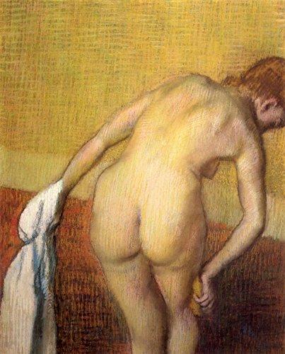 Das Museum Outlet–Frau Trocknen mit Handtuch und Schwamm von Degas, gespannte Leinwand Galerie verpackt. 147,3x 198,1cm