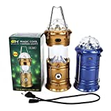 Kairos Colorful Disco Lights + Egg Shape Tube + 1w Rechargeable LED Energy Camping Lantern with Torch USB Interface Round Plug