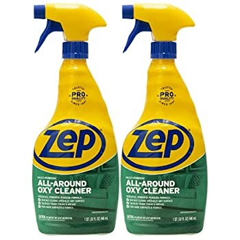 Zep All-Around Oxy Cleaner and Degreaser 32 Ounce ZUAOCD32  Pack of 2  - Great for Pet Messes Upholstery Hard Surfaces and More!