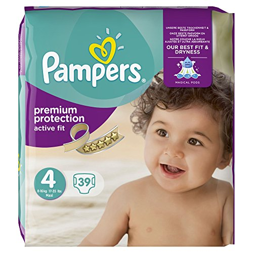 PAMPERS Pañales Active Fit Talla 4,8–16kg, 39, 1er Pack (1x 39unidades),...