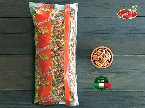 Noci Sgusciate ITALIANE - di Sorrento - Formato Da 1kg - Prodotto del territorio - Noci extra tipo 'A' - Prima scelta - Frutta secca di qualità senza sale - SORRENTINO Fruttaseccaesalute