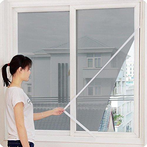 Iusun Window Screens, Indoor Anti Insect Fly Bug Mosquito Window Screen Mesh Net Door Window Screen Curtain (Grey)