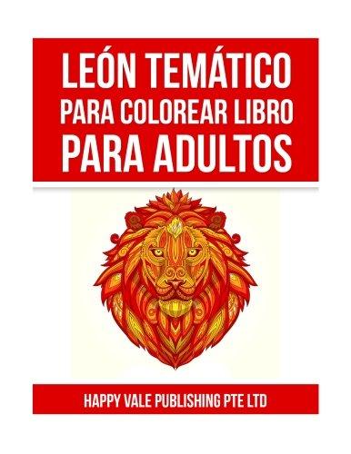 León Temático Para Colorear Libro Para Adultos