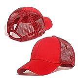 Mdsfexixianixnqu Hombres y Mujeres de béisbol Gorra de béisbol de Malla Gorra de béisbol al Aire Libre Sombrero de Sol de Verano Color sólido Sombrero de Playa Paraguas de Mujer con Agujero E-G240-A1