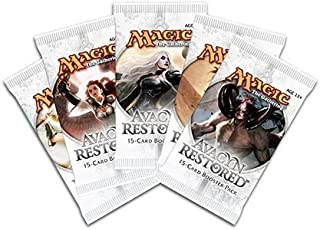 Toy / Game Six Packs Of Magic The Gathering - MTG: Mythic Rare Avacyn Restored Booster Pack Lot (Ages 13+)