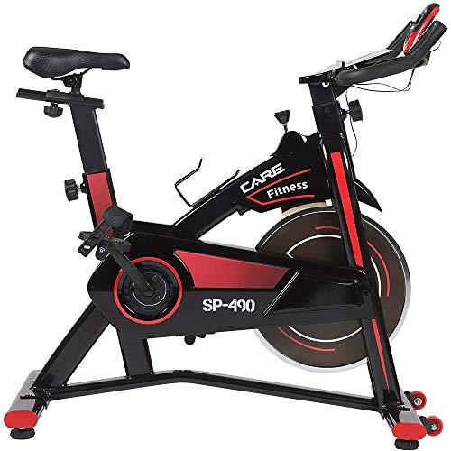 CARE FITNESS - Vélo Droit d'Intérieur Spibike SP-490 - Vélo Appartement - Confortable et Silencieux – Vélo Sport Biking Indoor avec Réglage Amplitude Articulaire