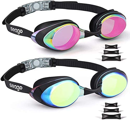 Swimming Goggles 2 Pack Swim Goggles Anti Fog Goggles Adult Swimming UV Protection Fit for Adult product image