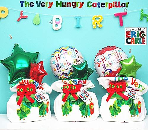 はらぺこあおむしおむつケーキ!バルーン出産祝い (ハッピー緑, Mサイズ14枚(Mサイズ目安3〜12ヶ月前後))