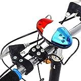 Campanello Elettrico per Bici, 6 LED Luci Elettronico Ciclismo Bicicletta Elettrico Corno Bicicletta Polizia Sirena Campana - 4 Suoni
