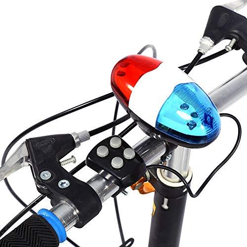 Fahrrad Warnlicht,2 in 1 LED-Leuchten Elektronisches Radfahren wasserdichte Fahrrad Lichter Zubehör Polizei Sirene Fahrrad Trompete - 4 Sounds