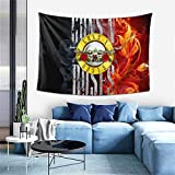 CaryShelby Guns-N-Roses Band S-lash Tapestry Fashionable Soft Wall Blanket Skin-Friendly Sofa Cover for Living Room Tablecloths Ceiling Decor Tapestry Wall Hanging 60x40 in