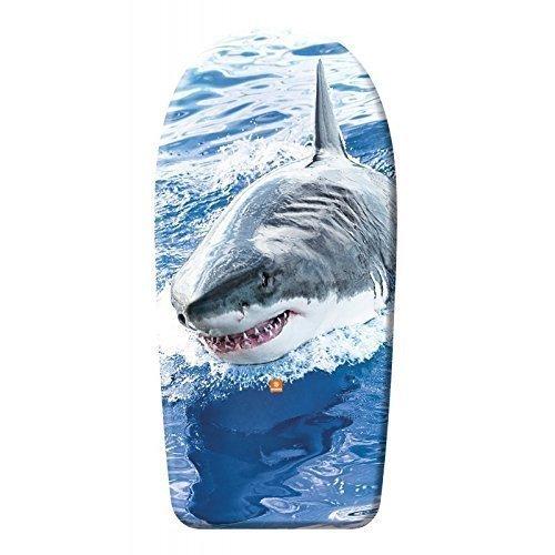 Lively Moments Hochwertiges Bodyboard 84 cm / Body Board / Surfboard / Schwimmbrett ca. 84 cm Bodyboard New Shark / Hai