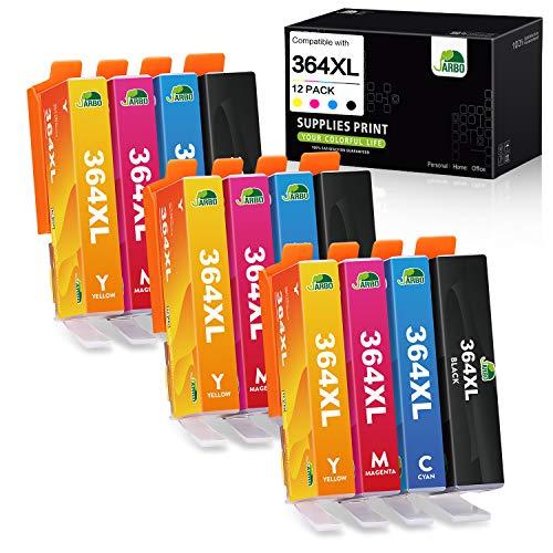 JARBO Compatibili per HP 364XL 364 XL Cartucce d'inchiostro per HP Photosmart 5510 5515 5520 5525 6510 6520 C5380 B8550 HP OfficeJet 4620 4622 HP Deskjet 3070A 3520 3522 3524, Multipack da 12