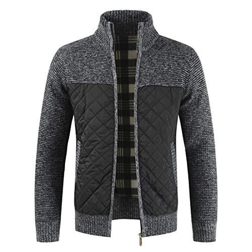 Jacke Herren Jacke Herren Mode Lässig Warmer Reißverschluss Slim Top Einfacher Trend Klassischer Stil Boutique Neue Herren Sport Top Gray_ L