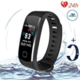 Fitness Tracker Heart Rate Monitor-Smart Activity Tracker with Sleep...
