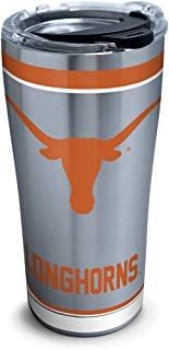 Tervis 1297286 NCAA Texas Longhorns Tradition Stainless Steel Tumbler with Lid, 20 oz, Silver