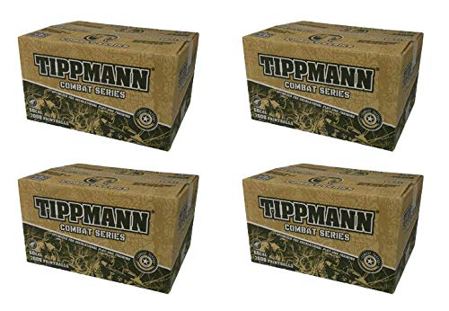 Tippmann 4 Kisten Combat Paintballs, 8000 Bälle, Cal. 68