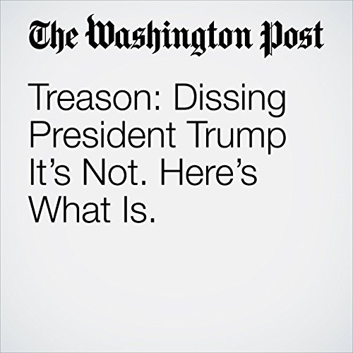 Treason: Dissing President Trump It's Not. Here's What Is. audiobook cover art