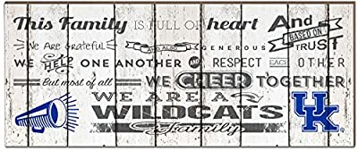 "KH Sports Fan 18""x7"" Montana Grizzlies Family Cheer Small Weathered Collage Plaque"