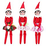 Miunana 3 Pcs Skirts Set Christmas Doll Clothes Party Grown Skirts for Elf on The Shelf Doll Clothes(Not Include Doll)