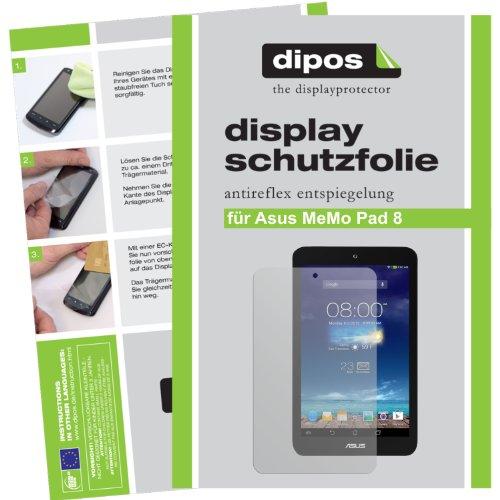 dipos I 2x Schutzfolie matt kompatibel mit Asus MeMo Pad 8 Folie Bildschirmschutzfolie