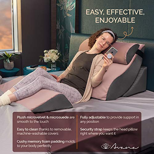 Avana Kind Bed Orthopedic Support Pillow Comfort System with Bamboo-Rayon Cover