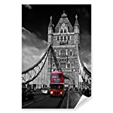 Postereck - 0121 - Roter Bus, Tower Bridge London England