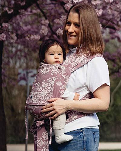 LIMAS Babytrage Halfbuckle | 50-86 cm | Bauchtrage & Rückentrage & Hüfttrage | ab Geburt bis Kleinkindalter | Baby Carrier | Blossom Rosewood
