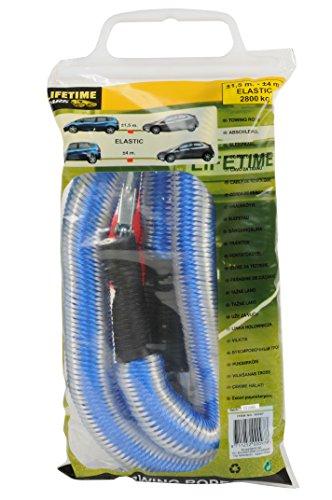 Lifetime 871125200097 - Corde de remorquage élastique, 2800 kg