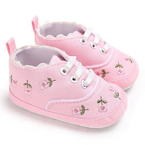 Nyuiuo Niño Bebé Niñas Zapatillas Casuales Zapatillas De Suaves Calzado Deportivo para Antideslizantes Zapatos De Niño Zapatos De Suela Blanda Zapatos De Cuna Florales para Recién Nacidos para Bebés