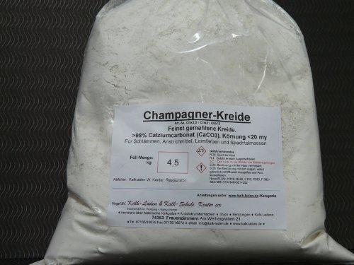 Champagner-Kreide, feinstgemahlen, naturrein, weiss 4,5 kg
