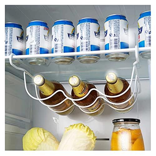 ZHEZHE caoxiaoge Refrigerador Cocina Estante Estante Can Beer Botella de Vino Top Holder Rack Organizador Cocina Almacenamiento Frigorífico Organizador Estantes
