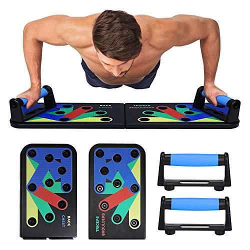 UBaymax Push Up Rack Board Plegable,Soporte Tabla de Flexiones para Entrenamiento,Plataforma di Físico Extraíble para Gimnasio Ejercicio,Stands para Muscular del Cuerpo,Equipo de Deporte Multifunción