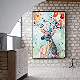 Cuadro En Lienzo Abstract Doodle Animals Wall Art Picture Artwork onhome Decor Living room50x70cmPintura sin Marco