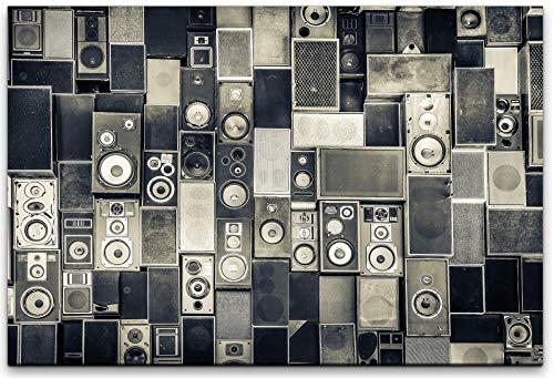 bestforhome canvasafbeelding abstract luidspreker wand canvas op houten frame 60 x 90 cm