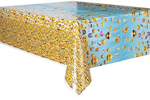 Emoji Plastic Tablecloth, 84' x 54'