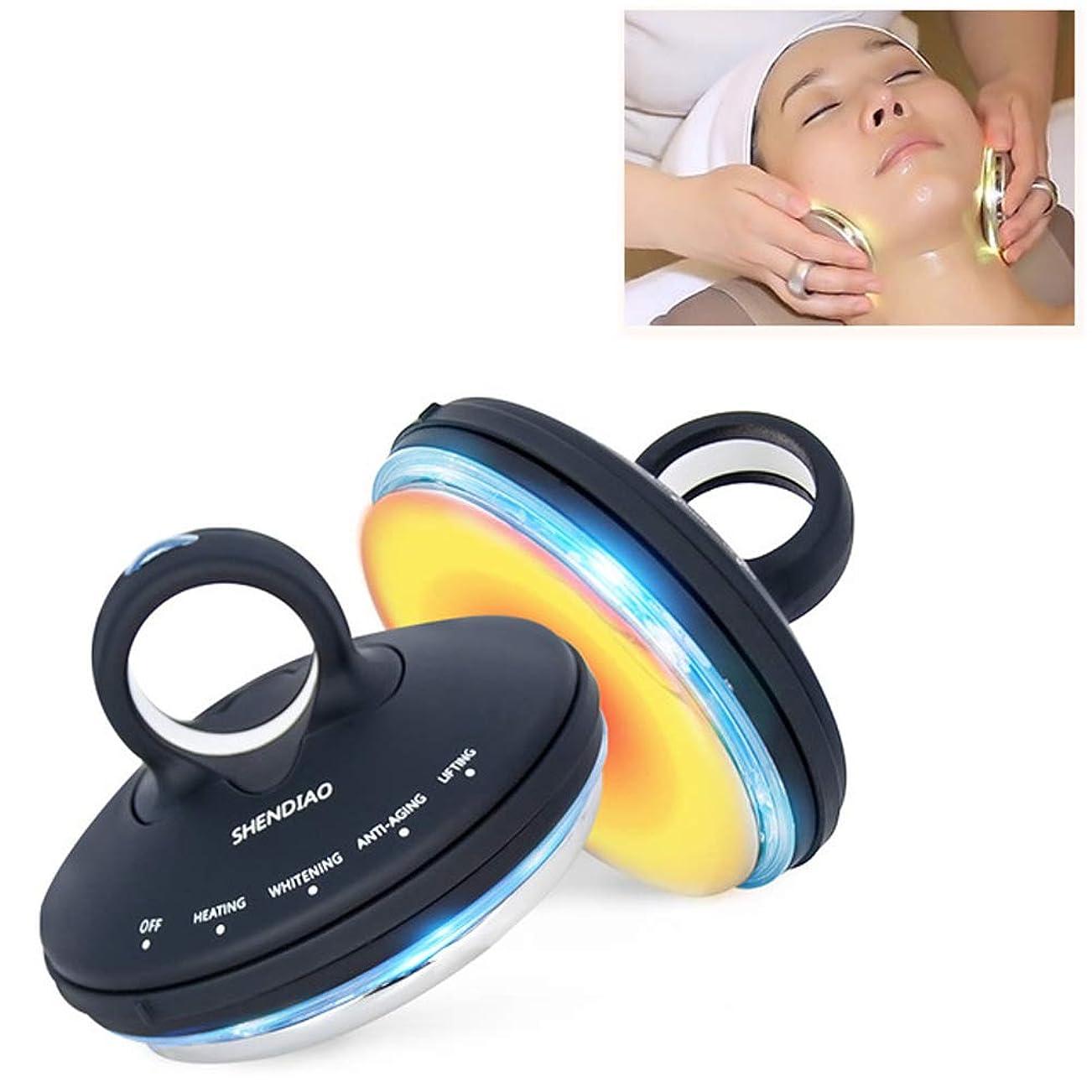 消毒する危険応援するフェイシャルRf美容器具、ポータブルフェイシャルマッサージディープクレンジングとリフティング引き締め肌多機能振動美容器具