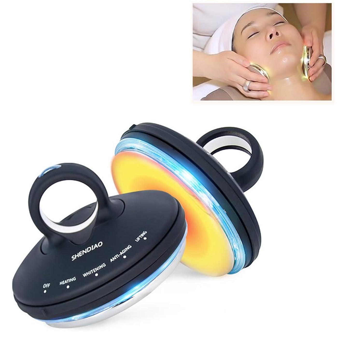 ファランクス有害な有害なフェイシャルRf美容器具、ポータブルフェイシャルマッサージディープクレンジングとリフティング引き締め肌多機能振動美容器具