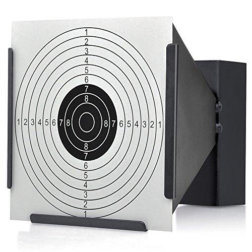 14 14cm Blanco Soporte + 100 Objetivos Rifle aire BALA Trampa TIRO AIRSOFT… - Embudo, Funnel