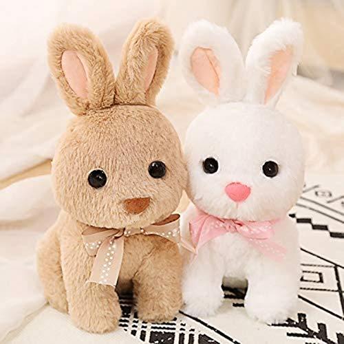 DINEGG Simulation Bunny Puppe Plüschtier Langohrkaninchen Puppe Kissen Rag Puppe Kinder Geburtstagsgeschenk 65cm (Farbe: braun, Größe: 40cm) YMMSTORY (Color : Brown, Size : 65cm)