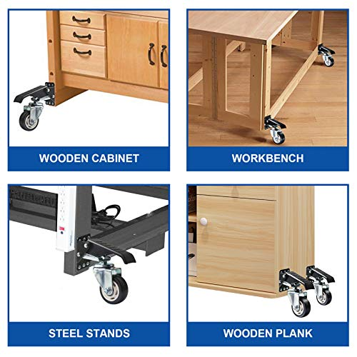 SOLEJAZZ Workbench Caster kit 880 LBS Capacity 3