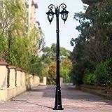 JYKFJ Post Light Wasserdicht Antikorrosiv High Pole Straßenlaterne Retro Aluminium Mastleuchte LED...