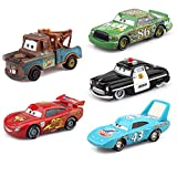 Cars 2 Basic Movie Characters 5 Pack Lightning McQueen and his Friends Metal die-cast Toy Cars,in Bulk