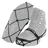 Traction cleats that fit over shoes for safely walking, hiking, or jogging on packed snow or ice Made of high-strength, abrasion-resistant 1.4 mm stainless-steel coils and heavy-duty rubber; secured to shoes with durable rubber straps Provides 360 de...