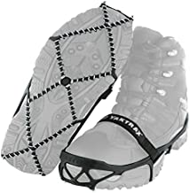 Yaktrax Pro Traction Cleats for Walking, Jogging, or Hiking on Snow and Ice (1 Pair), Small , Black